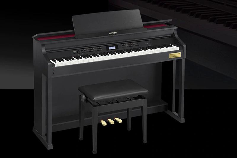 Đàn Piano điện Casio AP-700hấp dẫn người chơi bởi thiết kế hiện đại