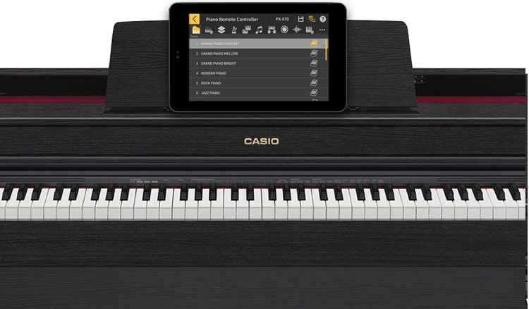Hệ thống phím đàn Casio AP-470 như một cây Đại Dương cầm