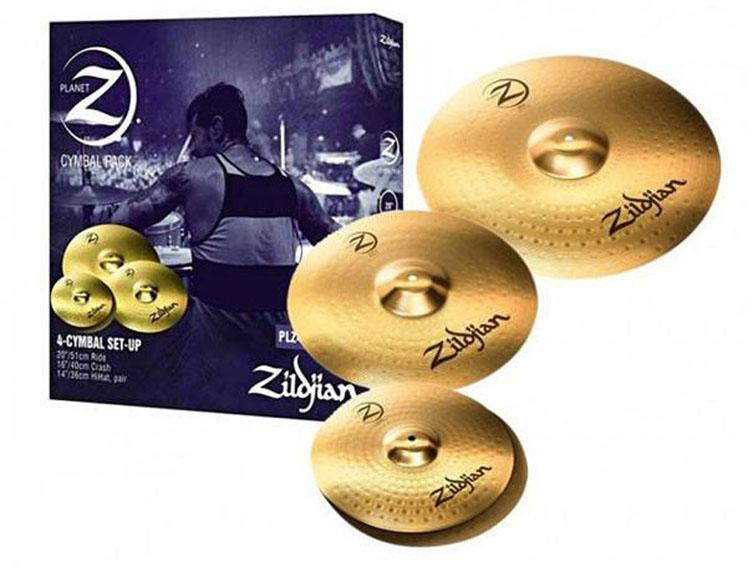 Zildjian PLZ4PK thuộc dòngcymbal Planet Z bao gồm Zildjian một cặp HiHats và Crash, đây là các cymbal để bạn bắt đầu chơi trống một cách chuyên nghiệp