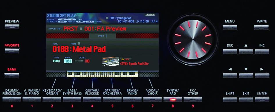 Roland FA-06 được trang bị một bộ sưu tập âm thanh phong phú