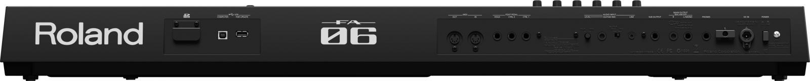 Roland FA-06 còn có thế kết nối với máy tính để truy cập vào thế giới âm thanh phong phú