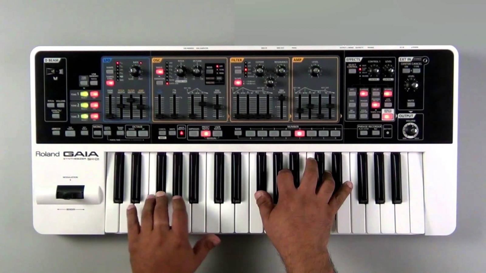 Roland GAIASH-01 bao gồm 3 Synth hoàn chỉnh cho âm thanh dày hơn, mạnh mẽ hơn