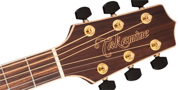 Đàn Guitar Takamine GD-93CE được làm bằng gỗ vân sam nguyên miếng