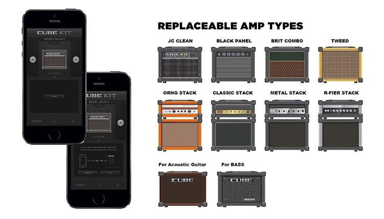 Sử dụng thiết bị iOS hay Android, bạn có thể thay đổi ba mẫu amp tiêu chuẩn