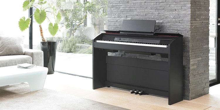 Đàn piano điện Casio PX-860 nổi bật với thiết kế sang trọng