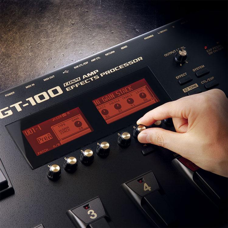 Boss GT-100 Multi Effects Pedal tích hợp 27 chế độ preamp sẵn có