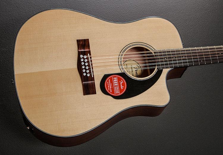 Đàn guitar Fender CD-60SCE 12-String có thiết kế sang trọng