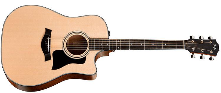 Đàn Guitar Taylor 310CE được thiết kế dáng Dreadnought Cutaway