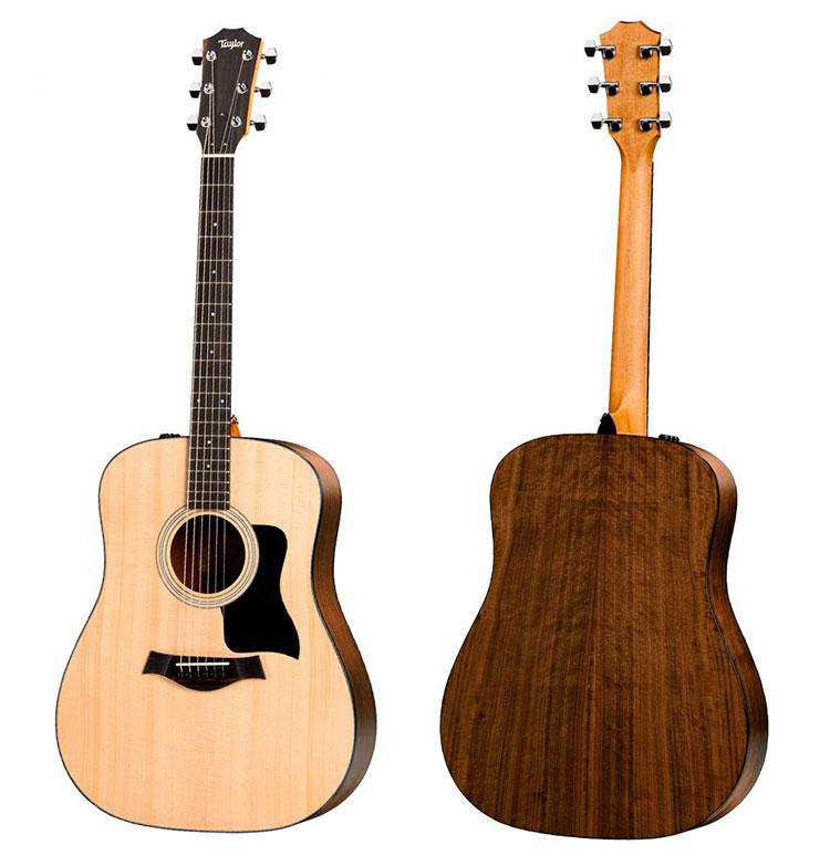 Thân đàn guitar Taylor 110E làm bằng gỗ Walnut