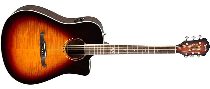 """Đàn guitar T-Bucket 300CE có dáng Dreadought Cutaway với scale 25.3"""""""