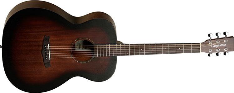 Mặt trước, lưng, hông và cần đànGuitar Acoustic Tanglewood TWCR O được làm từ chất liệu mahogany