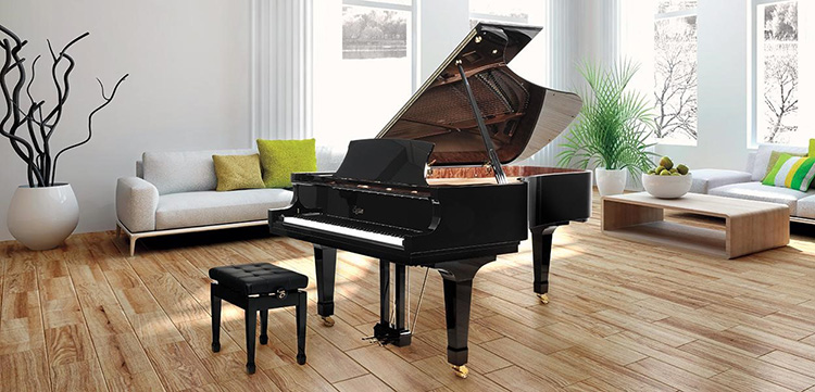Đàn Piano Boston GP-156 ẩn mình trong một thiết kế nhỏ gọn