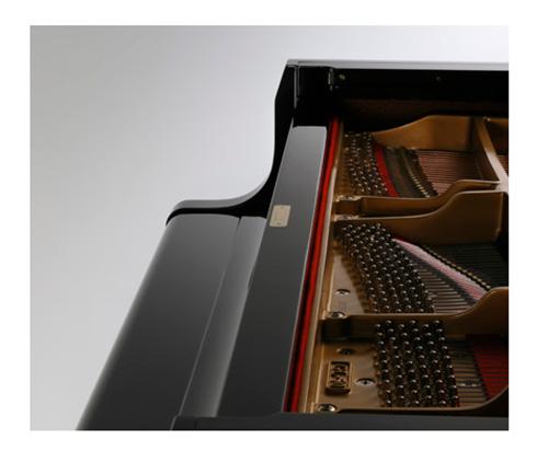 Thùng đàn GL-50 được thiết kế theo tiêu chuẩn piano Kawai,
