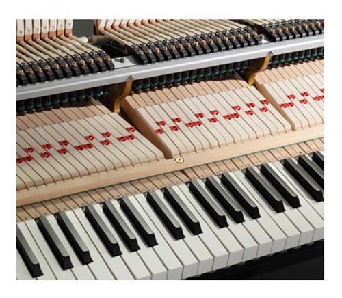 Phím đàn Kawai GX-1 được làm bằng gỗ vân sam