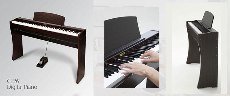 Đàn Pianio điện Kawai CL26 có thiết kế nhỏ gọn, linh hoạt