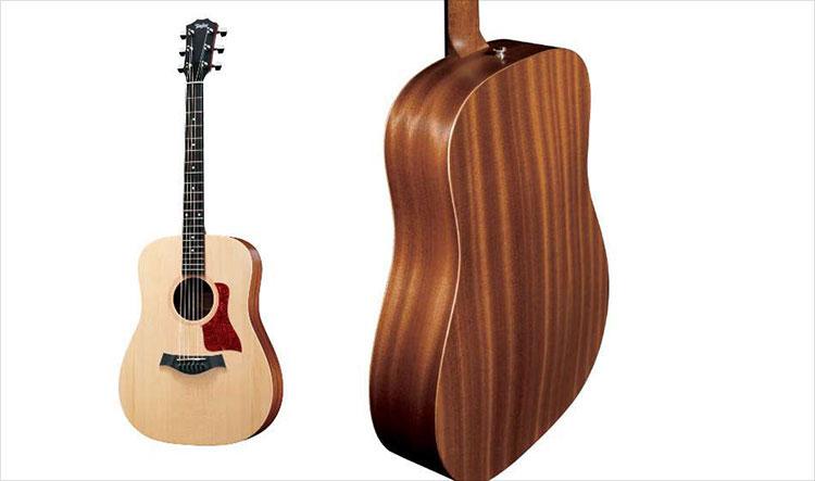 Thân đàn Big Baby Taylor được làm bằng gỗ Sapele ép